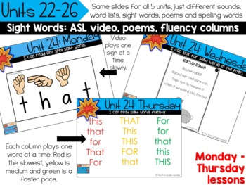 Kindergarten Digital Phonics Curriculum: Letter Sound Units 22-26