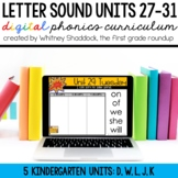 Kindergarten Digital Phonics Curriculum: Letter Sound Units 27-31 BUNDLE