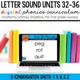 Kindergarten Digital Phonics Curriculum Letter Sound Units 32-36 BUNDLE