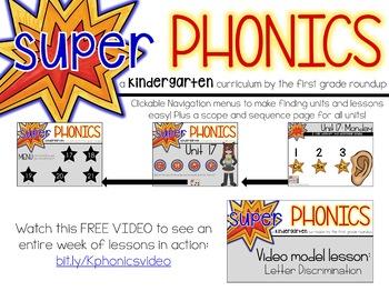 Kindergarten Digital Phonics Unit 18 on P