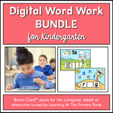Kindergarten Phonics - Yearlong Digital Bundle | BOOM Cards™