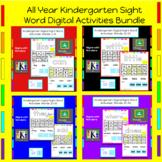 All Year Bundle: Kindergarten Digital Sight Word Activitie