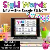 Kindergarten Digital Sight Words PrePrimer for Distance Le