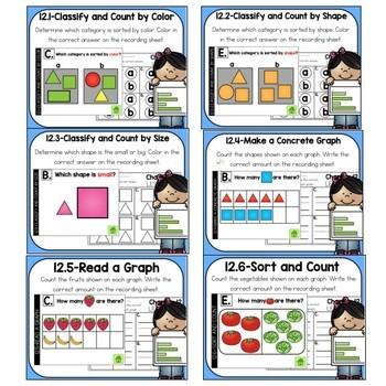 Go Math Kinder Digital Task Cards- Classify and Sort Data