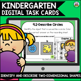 Go Math Kindergarten Digital Task Cards-Identify and Describe 2-D Shapes