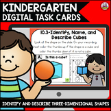 Go Math Kindergarten Digital Task Cards-Identify and Describe 3-D Shapes
