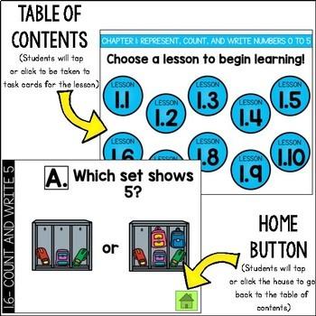 Go Math Kindergarten Digital Task Cards- Represent,Count,Read, and Write 20