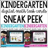 Go Math Kindergarten Digital Task Cards: SNEAK PEEK