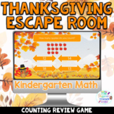 Kindergarten Digital Thanksgiving Math Escape Room Game | Counting Spiral Review