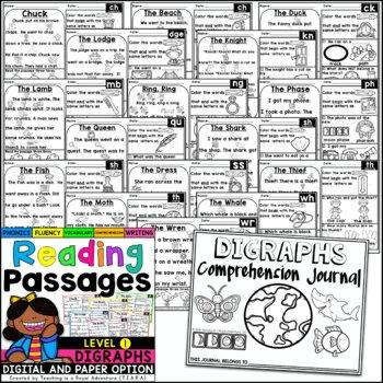 Kindergarten Digraph Reading Passages