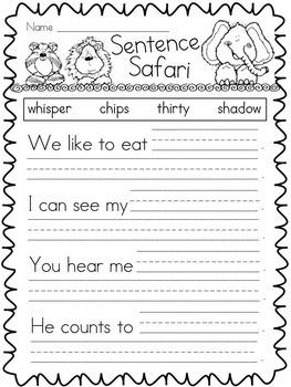 Kindergarten Digraphs Activities and Centers