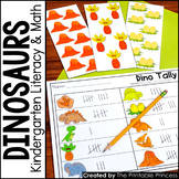 Kindergarten Dinosaur Centers for Math and Literacy Activities