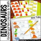 Kindergarten Dinosaur Theme Centers   Math and Literacy Ac