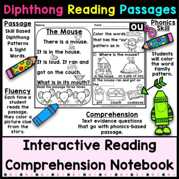 Kindergarten Diphthong Reading Passages