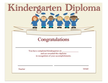 Kindergarten Diploma - Graduates