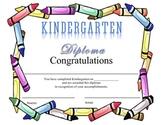 Kindergarten Diploma - Crayons