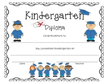 kindergarten diploma by excellent educator teachers pay teachers