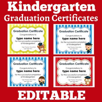 Kindergarten Graduation   Kindergarten Graduation Certificates