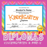 Kindergarten & Pre-K Diplomas (Editable)