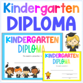 Kindergarten Diploma | End of the Year Award for Graduation | Certificate