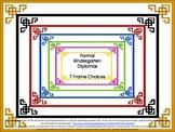 End of Year Kindergarten Graduation Diploma, Certificate or Award