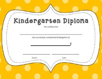 Kindergarten Diploma Certificate: Orange