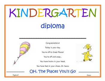 Dr Seuss Diploma Worksheets & Teaching Resources | TpT
