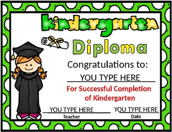 kindergarten diploma editable kinder diplomas by bilingual teacher