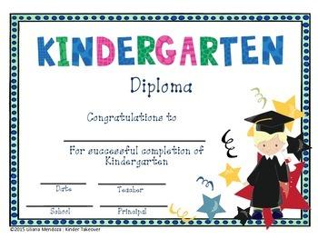 Kindergarten Diploma End of Year Certificate
