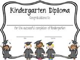 Kindergarten Diploma English and Spanish