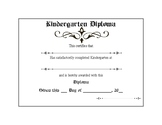 Kindergarten Diploma Formal (simple line boarder)