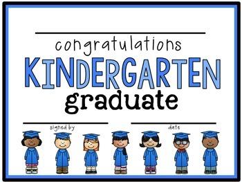 kindergarten diploma graduation certificate by teacher designs
