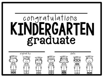 Kindergarten Diploma - Graduation Certificate