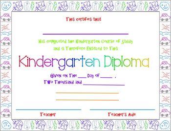 Kindergarten Diploma (Graduation)