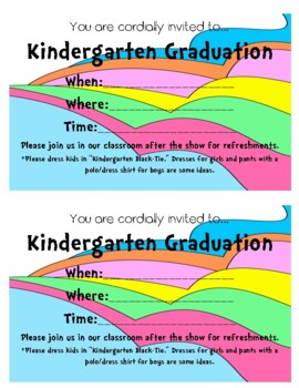 Kindergarten / Pre-K/ Preschool Graduation Pack- Dr. Seuss Theme 2017