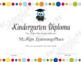 Kindergarten Diploma (Owl)