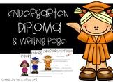 Kindergarten Diploma and Writing Page