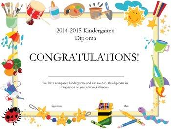 Kindergarten Diploma for Home School