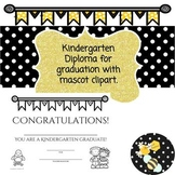 Kindergarten Diploma with and without mascot