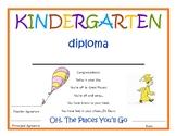 Kindergarten Diploma with signatures- Dr. Seuss