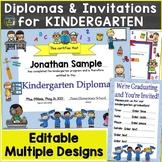 Kindergarten Diplomas, Certificates, Graduation Invitation