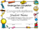 Kindergarten Diplomas, Certificates, and Completions Editable