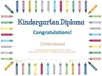 Kindergarten Diplomas - Editable End of Year Award