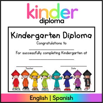 Kindergarten Diplomas English & Spanish