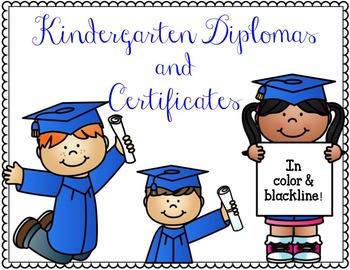 Kindergarten Diplomas and Certificates