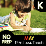Spring Independent Work Packet for Kindergarten - Review