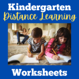 Kindergarten Distance Learning Packets