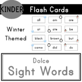 Kindergarten - Dolce Sight Words - 52 Winter Themed Flash Cards