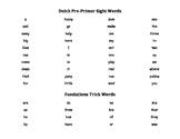 Kindergarten Dolch PrePrimer and Fry Sight Words