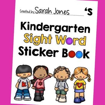 Kindergarten Dolch Sight Word Book